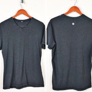 Lululemon S Mens Gray V Neck Shirt